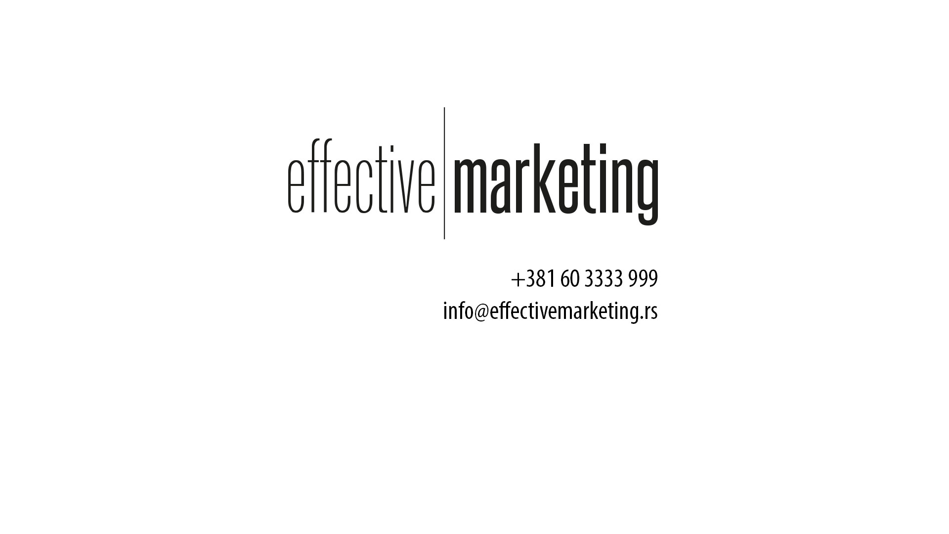 Effective Marketing - marketing agencija
